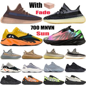 New desvanece Sun carbono Natural kanye west 700 v1 v2 MNVN homens tênis cinza mens terra de carbono azul Tie-dye mulheres Formadores sneakers
