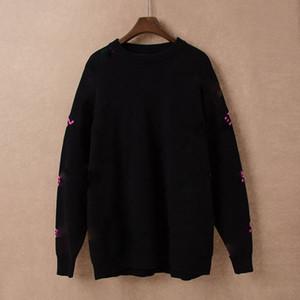 Qiu dong novo estilo de rodada de alta qualidade obter o céu estrelado jacquard tricô suéter de 5 cor marca importações moda