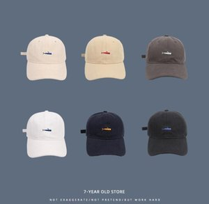 Fashion Simple Sports Cap Men's And Women's Sun Visor Casual Cap Removable And Washable Cotton Striped Letters Breathable 3D Embroidery