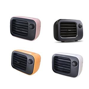 Rétro PTC céramique Chauffage Ventilateur UE US Plug Round Timing Noiseless Chauffe Accueil Bureau Chauffe bureau compact Ventilation Cn (origine)
