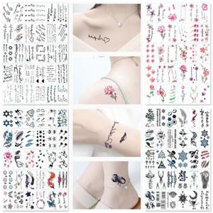 30pcs / Set No Repeat Tatuagem Temporária Adesivos Waterproof Tatuagens para as Mulheres Sexy Arm Clavícula Body Art Pé mão para a menina Men