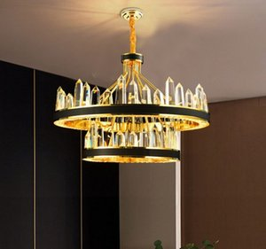 Lustres Nieuwe Luxe Ontwerp Woonkamer Led Verlichting Kristallen Lamp Kristallen Kroonluchter Moderne Verlichting Glande Pendant Lâmpadas