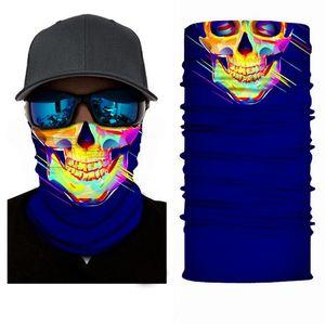 2020 Cycling Outdoor Skull Seamless Balaclava Magic Scarf Men Women Anti-UV Bandana Neck Gaiters Riding Camping Scarf Halloween Gift UX2021