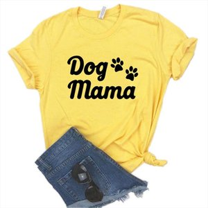 Imprimer Mama Couleur Funny Femmes T-shirts Na Chemise de chien T Casual pour Lady Yong 911 Top Tee Girl 6 Paw Coton Hipster Fsup
