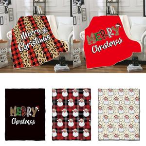 Рождество Одеяло для детей 3D печати Толстой Sherpa Одеялки Мягких теплого диван Throw Blanket Спящих Одеяло Одеяло 130 * 150см KKA2155