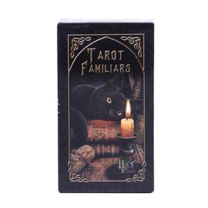 Em armazém Familiares Cartas de Tarô animal Magia Adivinhação Card Full Inglês Com Pdf Guia Game Portable Board Jogar Poker sqcIVI