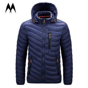 الرجال أسفل ستر الشتاء معاطف الرجال معطف 2021 العلامة التجارية سميكة الدافئة سترة واقية سترة الرجال يندبروف سستة البخاخ الملابس 1