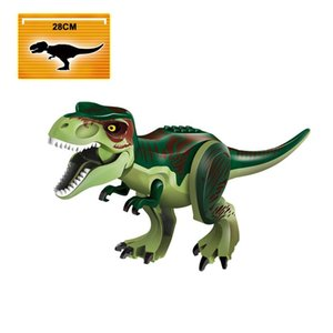 New Jurassic Park Mundo 2 Park Tyrannosaurs Rex Carnotaurus Indoraptors Building Block tijolo brinquedo novo Jurassic bbyFkx homebag