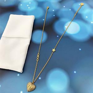 2020 letras Pendientes de amor hembra Dijia Internet Celebrity Love Diamond Bracelet Collar Mujer