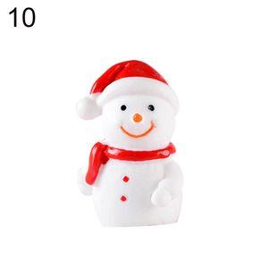 Resin Mini Christmas Santa Claus Tree Snowman Figurine Diy Fairy Garden Decor Miniaturemodel Lovely Xmas Design Toppers jlljLD homecart
