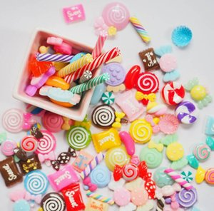 100 one pack resin food and play accessories lucky bag simulation cream mobile phone shell material DIY accessories