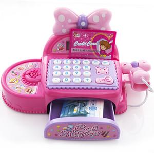 أطفال سوبر ماركت تسجيل النقدية مقلد لعب دور لعبة هدية عيد ميلاد فتاة متعدد الوظائف اللعب النقدية مع آلة حاسبة والماسح الضوئي 201021