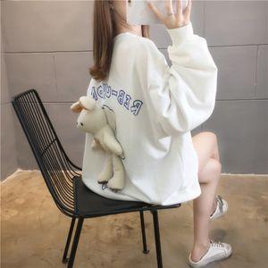 2020 nueva impresión coreana con conejo capa fina Underpants medio floja de las mujeres de la ropa y arriba siempre inferior faltante superior N93WK
