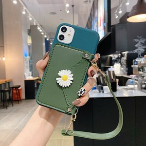 Phone Case For Huawei mate9 10 P20pro p10 plus for iphone 11 pro max Small Daisy Flower Portable Wallet Soft TPU back cover