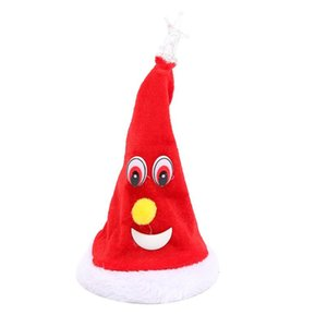 6 Inch Christmas Elements Electric Swing Hat Desktop Decor Xmas Party Accessories Christmas Pendant & Drop Ornaments TB Sale