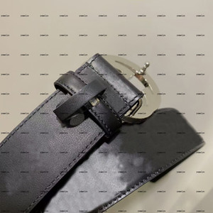 Men's two-letter classic printed leather belt full package width 4.0