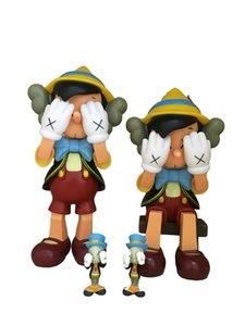 KAWS 27 см Оригинальные поддельные творческие дизайнерские куклы Отправить небольшой декорировать игрушки для декора из крикета Материал из ПВХ с цветной коробкой KAWS