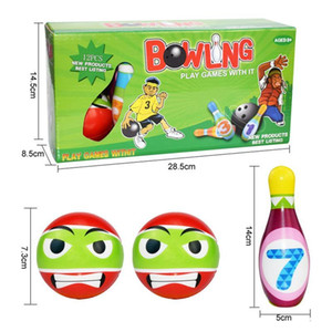 1 Set Bowling Pins And Balls Fun Safe PU Educational Toy For Kids Toddlers Children Outdoor Or Indoor Toy Sports#osp