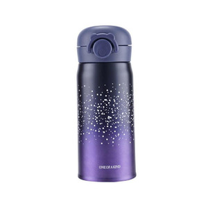 Best Selling Creative Starry Sky Cup 304 Stainless Steel Bouncing Cover Thick Bottom Mug Student Couple Use Portable Bottle DH0087