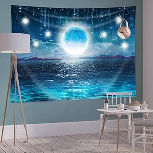 150 * 200 cm polyester halsı salonları oturma odası dekor arka plan yıldızlı ev yatak odası duvar resimleri baskı manzara bitkileri goblen baykd2679