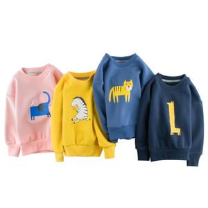 봄 새로운 Orangemom 브랜드 아동복 소년 T 셔츠 만화 단색 그림 긴 소매 유아 운동복 201013