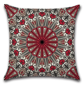 Pillow Covers Mandala Square Pillowcase Cotton Linen Throw Pillow Case Decorative Pillows Cushion Covers Sofa Seat Hotel Home Decor GWF4233