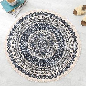 Marokko Bereich Teppich Handgemachte Classique Chic Tapestry Boho-Art-Druck-Matte, Strandtuch Meditation Runde Yoga-Matte
