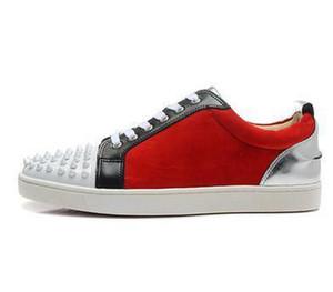 SchuheLouboutinKlumpenChristianDesigner Rote Boden Müßiggänger für Männer Frauen Freizeitschuhe Echtes Leder Slip auf Plattform Sne DSW