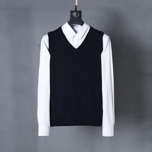 Free shipping 2021 autumn and winter new casual fashion V-neck men's polo shirt sweater 100% cotton pullover men's sweater large size S-XXL