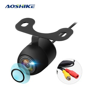 AOSHIKE New HD Night Vision Car Rear View Camera 170° Wide Angle Reverse Parking Camera Waterproof CCD LED Auto Backup Monitor