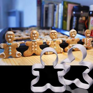 Shaped do bolinho Moldes liga de alumínio Gingerbread Men Natal animal árvore Ferramentas DIY Baking Moldes Cookie Cutter cozimento GWD2509