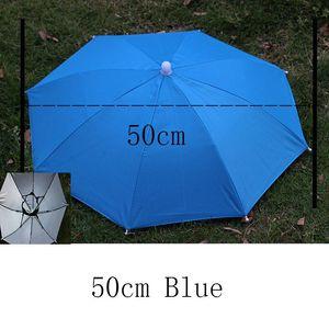 야다 야외 우산 모자 참신 접이식 일 날 비오는 날 핸즈프리 무지개 접는 방수 여러 가지 빛깔의 모자 캡 Ys0018 bbyoeT