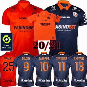 2020 2021 Montpellier HSC Soccer Jerseys Laborde Delort Savanier Mavididi 20 21 Sports de football S-2XL