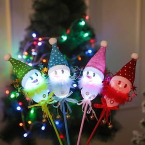 Resplandor multicolor partido de la Navidad llevada varita mágica LED Palo luminoso intermitente concierto de vacaciones de Navidad decoración para el hogar muñeco de nieve LED Sticks HH9-3585
