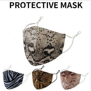 Máscara facial Impresión de máscaras 2020 máscaras diseñador de moda leopardo lavable polvo a prueba de polvo respirador montando ciclismo mujeres deportes al aire libre pr