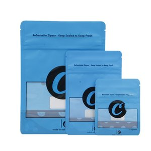 Cookies Dry Herb Packaging Bag 3.5 Grams Mylar Smell Proof Zipper Resealable Plastic Pouch Blue Red Color