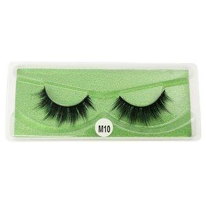 Eyelashes color bottom card Natural dense eyelashes 10 styles 3d mink eyelash natural long false eyelashes makeup eyelash box packing