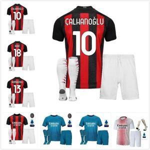 adult boys AC 2020 2021 milan IBRAHIMOVIC soccer jerseys Set 19 20 21 PIATEK PAQUETA THEO REBIC football shirts men kids kits uniforms