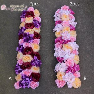 Artificial Flower Row Silk more colors Peony European Peony for road lead Table Flower Runner