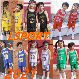 Bambini pallacanestro Jersey Imposta numeri personalizzato 23 canotte Sport palestra vestiti Ragazzi e ragazze pallacanestro Jersey maglia + bicchierini Uniformi