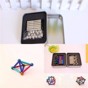 Svir Creative Modular Polar Polar Polar Magnetic Magnets Jouet Jouet Jouet en acier avec presse à décompression Puzzle Puzzle Buckyball Joys Balls pour adultes