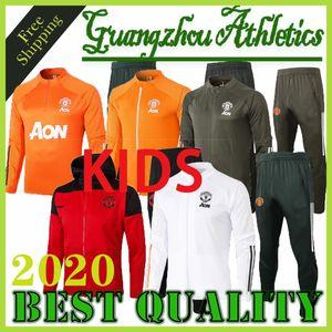 20 21 Cavani training suit kids MARTIAL RASHFORD football jacket sportswear blue foot jogging 2020 2021 POGBA Greenwood Soccer Tracksuit