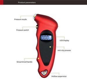 Pneumatico Manometro per la retroilluminazione Digital Digital Digital Pneumatici Digital Pressure Monitoraggio Auto Pneumatico Air Pressure Misuratore Misuratore LCD Display LCD