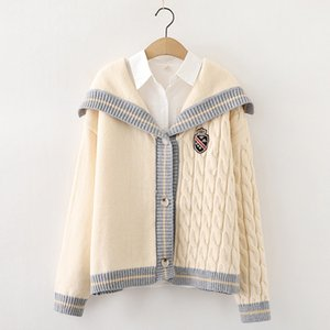 Women designers clothes 2020 women's fashion sweater loose designer sweater V-neck ox horn button long sleeve knitted cardigan coat