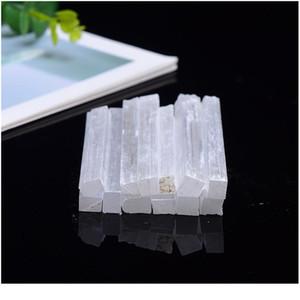 Doğal Beyaz Selenit Kristal Çubuk Cips Alçı Kuvars Kaba Mineraller Reiki Numune Noktası Şifa Taş Ev Decora Qylptw