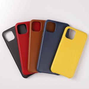Original PU cuir véritable cas pour l'iPhone 12 Mini 11 Pro Max Xs Xr X Luxe Silky Soft-Touch Shell pour iPhone SE 2020 7 8 Plus