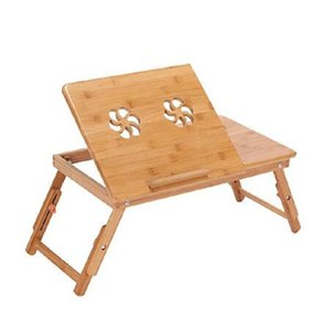 Portable Folding Bamboo Laptop Table Sofa Bed Office Laptop Stand Desk With Fan Bed Table For Computer bbyJbY lg2010