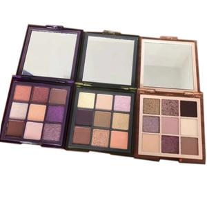 New Eye Makeup Haze 9 Colors Eyeshadow Pressed Palette Purple Sand Khaki Shimmer Matte Eye Shadow 3 Styles