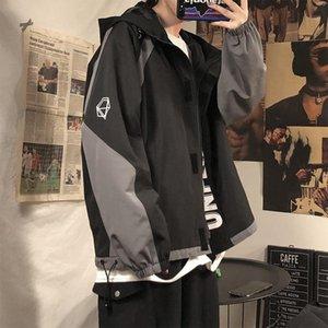 FMZXG Kapüşonlu Ceket erkek Moda Marka Gevşek Fonksiyonel Ruffian Yakışıklı Ins Moda Çift Coat1