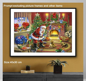 5d Diy Diamond Painting Full Round Christmas Decorations For Home Santa Claus Daimond Painting Accessori bbyfoy packing2010